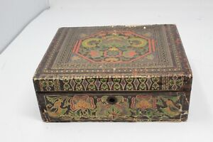 Pre-War Casige Germany Red & Gold Geometric with Case
