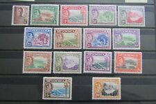 XL5053: Dominica Complete KGVI Mint Stamp Set to 10/- (1938):  SG99 – 109