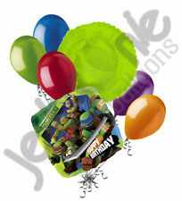 7 pc Teenage Mutant Ninja Turtles Balloon Bouquet Decoration TMNT Birthday Super