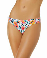 Hula Honey Juniors In Such A Fleury White Floral Bikini Bottoms XL New Hipster
