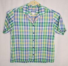 Vintage Mens Pendleton Knockabouts Short Sleeve Plaid Shirt Small S 60s 70s 80s