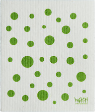 WET-IT Dot and Dots Absorbent SWEDISH CLEANING CLOTH  Green 2 pack