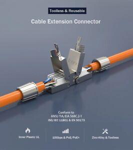 CAT 7 Netzwerkkabelverbinder,  werkzeugfrei Metall, LSA, STP 16GBit 600MHz, PoE+