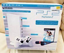 New, Sealed PlayStation 2 Slim Limited Edition Singstar Bundle Ceramic White PS2
