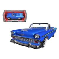 Road Signature 1956 Chevrolet Bel Air Convertible Blue 1/18 Diecast Car Model...