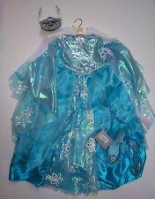 NWT Disney Store Frozen Sz S 5-6 Elsa Deluxe Costume Dress Tiara & Shoes 11/12