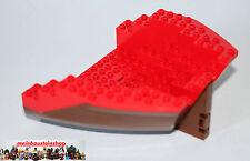 Lego ® piratas Boot barco trasero del casco marrón/rojo 14x16x5 2559 de set 6286