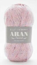 HAYFIELD Bonus ARAN Tweed WOOL Knitting Crochet Yarn 400g BERRY Pink (0799)