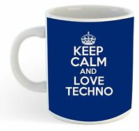 Keep Calm And Love Techno  Mug - Blue
