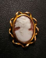 Cameo female Antique Pinchbeck