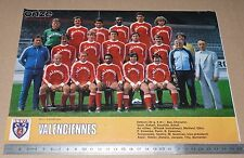 CLIPPING POSTER FOOTBALL 1980-1981 US VALENCIENNES ANZIN USVA STADE NUNGESSER