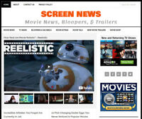 [NEW DESIGN] * MOVIE & TV NEWS * website business for sale w/ AUTOMATIC CONTENT