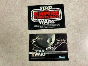 Kenner Star Wars Vintage Empire Strikes Back A New Hope Pamphlet Catalogs 2 Lot