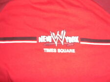 VTG WWE WWF Times Square New York Shirt Red 90s  XL