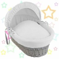 Isabella Alicia Pure White Cotton Waffle Moses Basket Dressing.