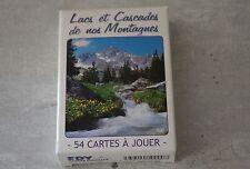 Rare Jeu de 54 cartes collection Lacs et Cascades Montagnes EDY photographie ++