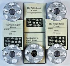 Watch repair courses. New 2020 2nd Edition. 5 DVDs + manual.