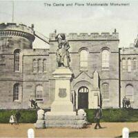 Antique printed postcard Inverness The Castle & Flora MacDonalds Monument