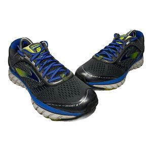 Men's Brooks Ghost 9 Running Shoes Sneakers Gray Blue Green 1102331D060 Sz 9.5 D