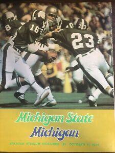 MICHIGAN STATE VS MICHIGAN COLLEGE FOOTBALL PROGRAM 1975 EXCELLENT CONDITION