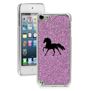 For Apple iPod Touch 4th 5th 6th Glitter Bling Hard Case Cover Horse
