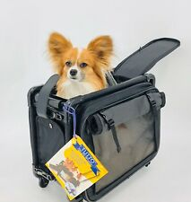 Tutto Small Pet On Wheels Stroller 16 inch Dog Cat Carrier Collapsible Carry On