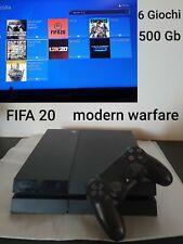 Playstation 4 PS4 FAT 500GB + 6 GIOCHI MODERN WARFARE FIFA 20💥GARANZIA💥