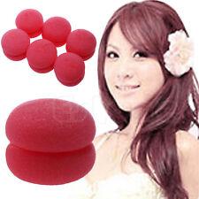 6 pcs Soft Balls Soft Sponge Hair Care Curler Rollers New