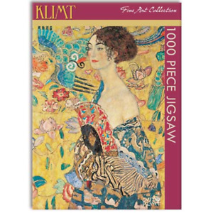 Jigsaw Puzzle, Klimt – Lady with Fan 1000 piece, Gifted Stationery