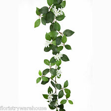 Artificial Jasmine Garland Green and White 175cm/69 Inches Spring Flowers