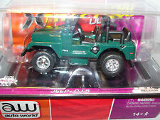 AUTO WORLD ~ Green Jeep CJ-7  ~ Sold Out Everywhere ~ Also Fits AFX, JL, AW