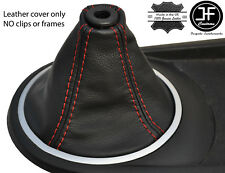 RED STITCH FITS HYUNDAI TIBURON COUPE 2002-2008 GEAR GAITER REAL LEATHER