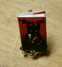 "Miniature Doll House Book "" Black Cat "" Tiny"