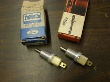 NOS OEM Ford 1964 1965 Lincoln Continental Door Warning Lamp Switch Pair Hardtop