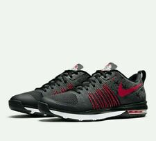 New Men's Nike Air Max 1 Effort TR AMP Ohio State Black Red size 7.5 705367 061
