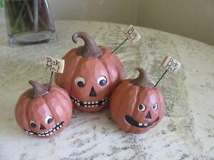 "Suzi Skoglund ""PICK ME"" pumpkin patch Halloween figurine decor"