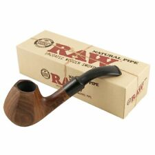 More details for raw natural wooden smoking pipe - natural hand carved bubinga wood