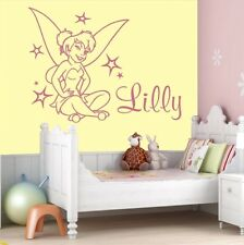 Tinker Bell Personalised Wall Stickers Girls Name Bedroom Disney Room Children