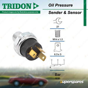 Tridon Oil Pressure Light Switch for Nissan Pulsar N13 1.6L 1.8L SOHC 8V