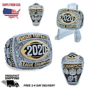 NEW 2020 Fantasy Football Championship Ring and Clear Ring Display Case