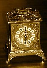 Ottone Orologio da Camino *Orologio Tavola *Antico* Movimento Al Quarzo Oro
