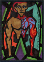 TNA Jeff Hardy Artwork R50 2012 Reflexxions RED Premium Foil Insert Card SN 3/10