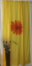 Vorhang Gardine Schal Store Universalband Blume Seidenoptik  145 x 245 Gelb