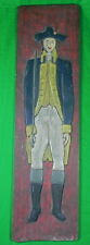 Antique Old Vintage Huge Carved Wood Wall Plaque Art Civil War Soldier