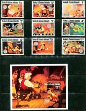 Turks & Caicos 442-51 Christmas 1980 Scenes from Walt Disney's Pinocchio  x14644