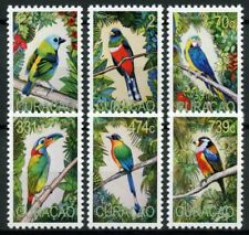 More details for curacao south american birds on stamps 2020 mnh macaws parrots 6v set