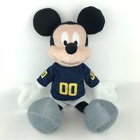 Disney Mickey Mouse Plush Soft Doll Michigan Football Jersey Stuffed Animal