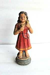 1900's Vintage Clay Terracotta Figurine of Baby girl Home Decor Collectible BR54