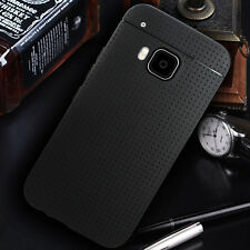 New Flexible Slim Soft-Touch Matte Black TPU Case Cover+HD Film For HTC ONE M9