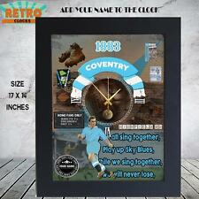 Personalised  Retro COVENTRY CITY football  supporters  Metal WALL CLOCK
